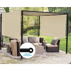 Patio Outdoor Shade Universal Replacement Pergola Canopy Shade Cover 10'X16′ Beige w ...