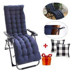 siruipu [US Stock] Patio Chaise Lounger Cushion, 61Inch Thickened Chaise Longue Cushion Recliner ...