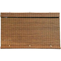 Lewis Hyman – Imperial Matchstick Cord Free Roll-Up Shade, Driftwood 72 Inches x 72 Inches