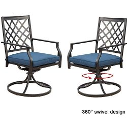 Top Space Outdoor Chair Patio Chairs Swivel Rocker Chairs Patio Dining Chair Iron Metal Bistro S ...
