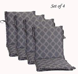 Comfort Classics Inc. Set of 4 Mid Back Outdoor Dining Chair Cushion 20″ x 36″ x 2 i ...