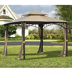 Sunjoy 110109156 Original Replacement Canopy for Madaga Havana Gazebo (10X10 Ft) L-GZ136PST-2/7/ ...
