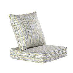 HonTop Indoor | Outdoor Seat Patio Cushion,Outdoor Chair Cushion Set,Outdoor Cushions for Patio  ...