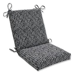 Pillow Perfect Outdoor | Indoor Herringbone Night Squared Corners Chair Cushion