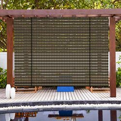Patio Paradise Exterior Outdoor Roll up Shades Blinds Roller Shade 6'Wx6'H for Porch ...