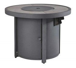 Signature Design by Ashley – Donnalee Bay Outdoor Round Fire Pit Table – Burner Cove ...