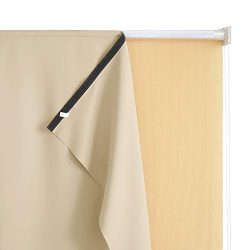 RYB HOME Outdoor Roll up Blackout Curtain for Porch, Match with Outdoor Roller Shades Screen for ...