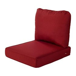 Quality Outdoor Living 29-RD02SB All-Weather Deep Seating Chair Cushion, 23 x 26, Red