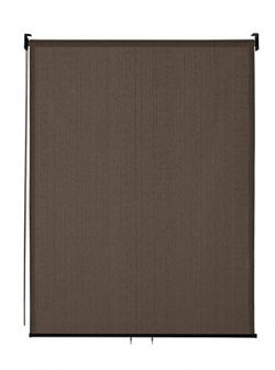 VICLLAX Outdoor Roller Shade, Patio Blinds Roll Up Shade (4′ W X 6′ L), Mocha