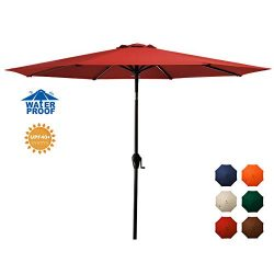 MEWAY 10ft Patio Umbrella Outdoor Umbrella with Push Button Tilt and Crank for Commercial Event  ...