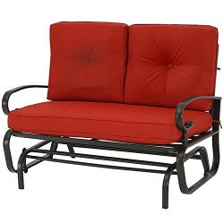 Incbruce Outdoor Swing Glider Rocking Chair Patio Bench for 2 Person, Garden Loveseat Seating Pa ...