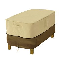 Classic Accessories Veranda Rectangular Patio Ottoman/Side Table Cover, X-Small