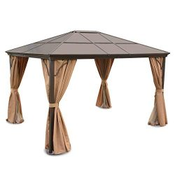 YITAHOME Hardtop Aluminum Permanent Gazebo – Gazebo Canopy Replacement for Patios and Outd ...