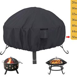 Saking Patio Fire Pit Cover Round 50 inch – Waterproof Windproof Anti-UV Heavy Duty Gas Fi ...