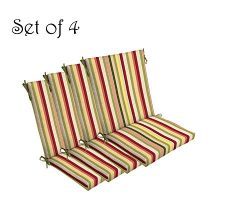 Comfort Classics Inc. Set of 4 Indoor/Outdoor Dining Chair Cushion 20″ x 44″ x 3.5&# ...
