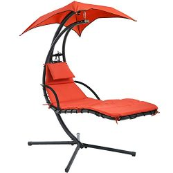 Vnewone Patio Chair Hammock Stand Outdoor Chair Swings for Adults Hanging Chaise Lounger Chair F ...