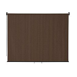 VICLLAX Outdoor Roller Shade, Patio Blinds Roll Up Shade (8′ W X 6′ L), Mocha
