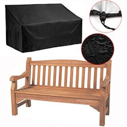 Silvotek 2 Seater Garden Bench Cover – Waterproof Outdoor Bench Cover with Durable 210D Ox ...