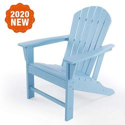 LAYRIAR HDPE Classic Outdoor Adirondack Chair for Patio Deck Garden,Backyard & Lawn Furnitur ...