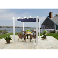 Elegant and Stylish BH&G Meritmoor Aluminum/Steel Pergola with Single-Finish,10′ x 12& ...