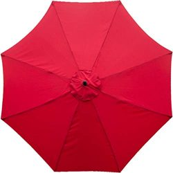 Sunnyglade 9ft Patio Umbrella Replacement Canopy Market Umbrella Top Outdoor Umbrella Canopy wit ...