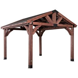 Backyard Discovery 2001527 Arlington 12 x 12 Gazebo, Walnut