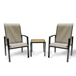 V-FIRE Outdoor Patio & Porch Furniture Sets 3 or 5 Pieces, All-Weather Chairs and Table Dura ...