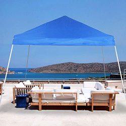 PHI VILLA 12'x12′ Slant Leg UV Block Sun Shade Canopy with Hardware Kits, Shade for  ...
