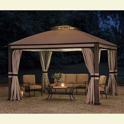 Sunjoy 110109025 Original Replacement Canopy for Shadow Creek Gazebo (10X12 Ft) L-GZ1140PST Sold ...