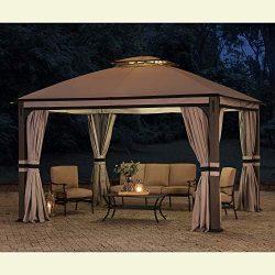 Sunjoy 110109025 Original Replacement Canopy for Shadow Creek Gazebo (10X12 Ft) L-GZ1140PST Sold ...