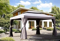 Grand patio 10×13 Feet Patio Gazebo, Outdoor Instant Canopy with Mosquito Netting and Shade ...