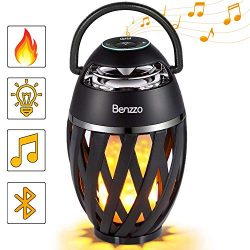 LED Bluetooth Speaker by Benzzo – Portable Desk Lamp Flickers Flame Light and HD Sound Wir ...