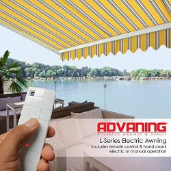 ADVANING 10'x8′ Motorized Patio Retractable Awning | Luxury Series | Premium Quality ...