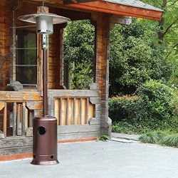 FDW Bronze Garden Outdoor Patio Heater Propane Standing LP Gas Steel w/accessorie